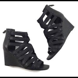 Franco Sarto Black Hazy Wedges BRAND NEW size 8.5